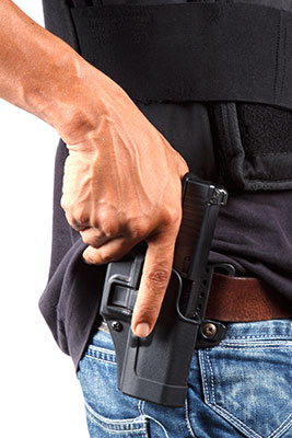 hand on holster