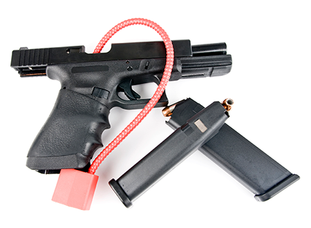 Gun with a safety lock
